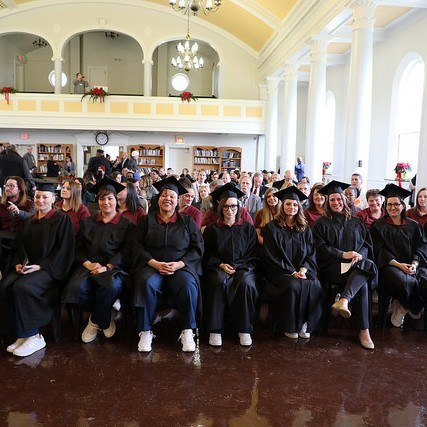 The excited graduates at the Indiana Women's Prison